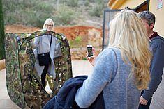 TREDY-fashion Online Magazin. Making-of Shooting in Alicante Spanien. Model beim Shooting