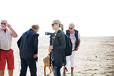 TREDY-fashion Online Magazin. Making-of Shooting in Alicante Spanien. Vorbereitung am Strand