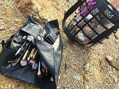 TREDY-fashion Online Magazin. Making-of Shooting in Alicante Spanien. Schminke Utensilien