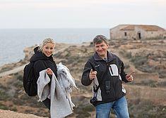 TREDY-fashion Online Magazin. Making-of Shooting in Alicante Spanien. Mitarbeiterin und Fotograf.